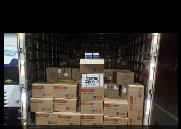 container com testes